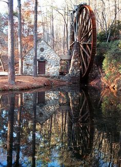 Water Wheel Reflection