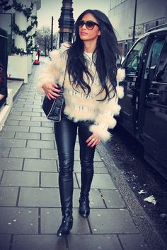 Your COMPLETE guide on how to wear LEATHER LEGGINGS: http://www.clubfashionista.com/2013/10/your-complete-guide-on-how-to-wear.html  #clubfashionista #fashion #pleather #style