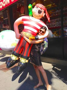 I went to Balloon Saloon in TriBeCa looking for some decorations for a friend's birthday party and fell for this pirate [left]. I wanted to take him shopping with me afterward in SoHo, but he wouldn't fit in a taxi. Maybe I'll go back and invite him out to dinner in the neighborhood instead.
