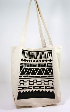 Geometric Printed Tote Bag
