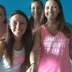 Shannon Harmon added a photo of their purchase Bridesmaid Tank Tops, Team Bride, Brides And Bridesmaids, Creative Business, Drinking, Hoodies, Tees, Fashion, Drinks