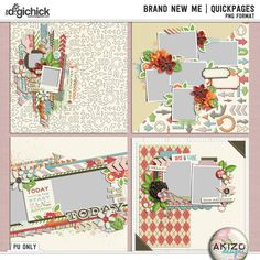 Brand New Me | Quickpages by Akizo Designs (Digital Scrapbooking)
