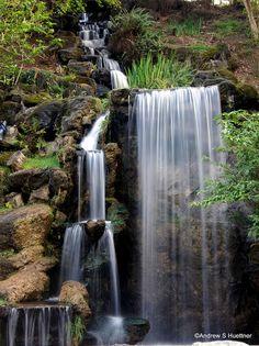 Waterfall at the Los Angeles Arboretum, Arcadia, CA.  Photo by greenmonkey_12, via Flickr
