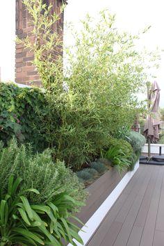 Madera tipo composite en color gris paisajistas madera - Jardines en aticos ...