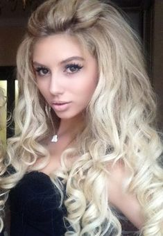 curly long thick beautiful hairstyle