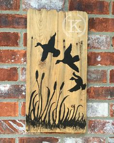"""In the Blind on Reclaimed Cypress $25  22 x 10.5"""""""