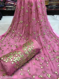 Suits and dress Materials: Chanderi silk gota Patti work free COD WhatsApp Embroidery Neck Designs, Embroidery Suits, Kurta Designs Women, Blouse Designs, Georgette Sarees, Silk Sarees, Classy Suits, Pakistani Wedding Outfits, Womens Dress Suits