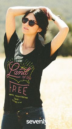 The truth is no one is free when others are oppressed... Do your favorite shirts fight sex trafficking & promote freedom? This one does! ► http://www.sevenly.org/?cid=PINTERESTveronica