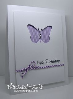 The Card Grotto: Butterfly Cut Out - January 14, 2013