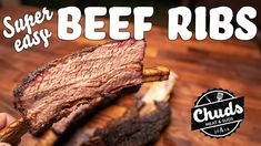 Texas Style Beef Ribs | Chuds bbq - YouTube Bbq Beef Ribs, Smoked Beef, Brisket, Steak, The Creator, Desserts, Easy, Youtube, Food