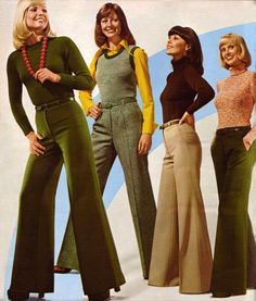 Bell Bottoms were the one of the popular styles for women in the 60s. Description from pinterest.com. I searched for this on bing.com/images