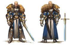 Paladin, jang ju hyeon on ArtStation. Fantasy Male, Fantasy Armor, Medieval Fantasy, Dark Fantasy, Game Character, Character Concept, Concept Art, Dnd Characters, Fantasy Characters