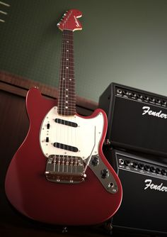 Fender Mustang - 3d Graphics on Creattica: Your source for design inspiration