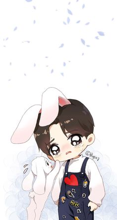 ewww so cute Jungkook Fanart, Vkook Fanart, Jungkook Cute, Jimin, Bts Chibi, Anime Chibi, Kawaii Anime, Bts Anime, Anime Guys