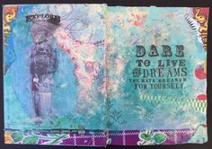 from my sketchbook - dare to live your dreams page