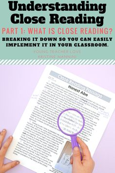 Understanding Close Reading: Part 1 - What is Close Reading? If you've been wondering the WHAT or HOW of #ClosedReading, you're going to love this blog post! Click through now to get great information, a FREE download, anchor charts, & more. Click through now to learn the three main parts of this strategy, questioning skills, and more for your third, fourth, fifth, or sixth graders in upper elementary or middle school students. #Reading #UpperElementary