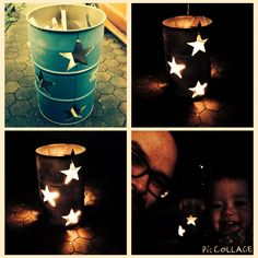 Oil barrel / drum with fire stars...