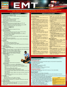 Don't go through your EMT training course without this handy reference! #EMT #Study