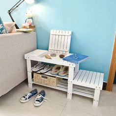 SoBuy Bamboo Shoe Rack, Bench, Stool, Display Racks, Seat... https://www.amazon.com/dp/B00XIXMLOE/ref=cm_sw_r_pi_dp_x_exgtzbEBQX02G