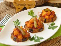 Tavuklu Patlıcan Oturtma Resimli Tarifi - Yemek Tarifleri Sweet Potato, Potatoes, Chicken, Meat, Vegetables, Food, Kitchens, Potato, Essen