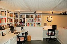 Like the basement built ins for an office space