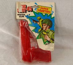 Ja-Ru Super Squirter Big Shot 45 Water Squirt Gun Vintage NEW MOC 1980's Red