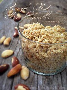 Super Easy 4 Ingredient Raw Brazil Nut Cheese Crumble Recipe - #rawcheese #rawrecipes