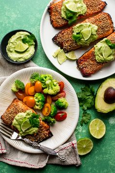 Creamy Avocado Lime Salmon