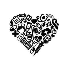 SVG  LPN Collage Heart svg  DXF  Nurse svg  Medical  Lpn
