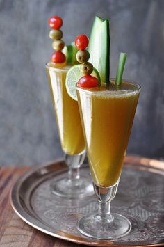 Cucumber Blonde Bloody Mary. Looks so interesting! I think I'd love this.