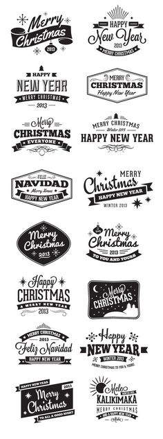 Add a retro flair to your Christmas designs with this new Christmas Badges and Label Vector Pack. Included in this pack are 16 Christmas label vectors, some with a vintage style, some modern, and still others with Spanish and Hawaiian phrases.