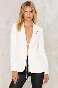 Lavish Alice Slit Back and Relax Jacket