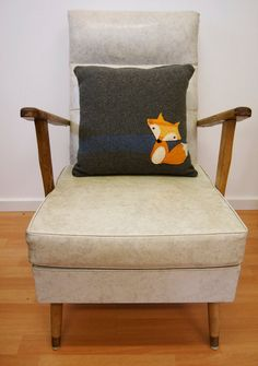 Mr Fox Upcycled vintage woolen blanket by SewRecycledAustralia,