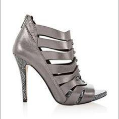 Gladiator sandals Zips up the back metallic heel White House Black Market Shoes Sandals