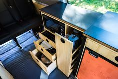 The stock interior of a Sprinter Crew van isn't anything special. We stripped out all the stock plastic wall panels and headliner, …