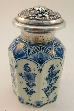 Delft Perfume Bottle Antique Perfume Bottles, Vintage Bottles, Antique China, Antique Glass, Holland, Perfume Samples, Blue China, Delft, Shades Of Blue