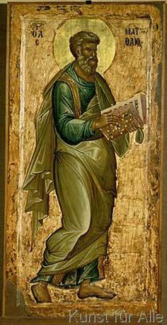 The Icon Gallery-Ohrid is one of worlds' most significant icon galleries. These icons are very important segment of the Byzantine art in general. Religious Icons, Religious Art, Rosslyn Chapel, Saint Matthew, Christian Artwork, Templer, Russian Icons, Religious Paintings, Byzantine Art