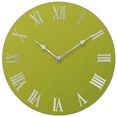 Big GREEN clock!