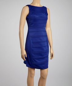 Love this Royal Blue Pleated Sleeveless Dress by Julia Jordan on #zulily! #zulilyfinds