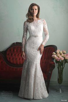 Allure Bridals Fall 2014: long sleeve lace #wedding dress style 9167 #bridal #weddinggown #weddingdress