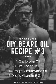 Are you looking to make your own beard oil? This excellent beard oil recipe with essential oils is not only simple to make but it will make your beard healthy and smell great. To rock any great beard styles you need a quality beard oil. Homemade Beard Oil, Diy Beard Oil, Beard Oil And Balm, Best Beard Oil, Beard Balm, Natural Beard Oil, Beard Shampoo, Beard Growth Oil, Boost Testosterone