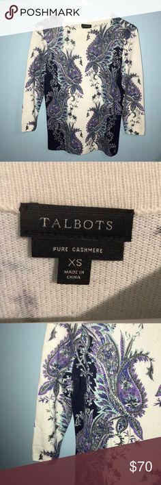 100% cashmere Talbots beautiful sweater 100% cashmere beautiful sweater Talbots Sweaters