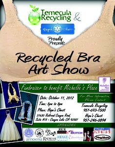 Feeling Creative?  Come in and make a donation to Michelle's Place, pick up a bra and create your own bra art for our show.  Prizes will be awarded for various categories!
