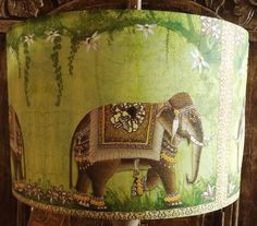 Butterfly lamp shadelampshade shabby chic spring blossom pink shabby chic lamp shade indian elephant green exotic ethnic hippy lightshade fatta da mamma free gift by fattadamamma on etsy mozeypictures Image collections
