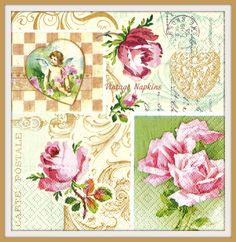 A personal favorite from my Etsy shop https://www.etsy.com/listing/250816917/paper-napkins-for-decoupage-vintage