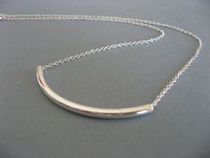 Silver Bar Necklace => Tried it! Love it! Click the image. : Handmade Gifts