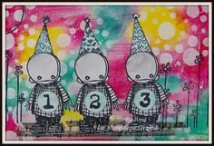 Postcard art using Stampotique stamps :)