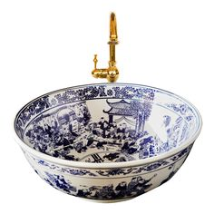 From Gucci to Dolce & Gabbana, chinoiserie continues to grace the catwalk and where fashion goes, interiors soon follow. Perfectly in tune with this trend, the London Basin Company's classic blue and white Georgiana basin makes the ideal accent piece for bathrooms and cloakrooms londonbasincompany.com