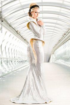Runaway galactic princess? Beautiful alien diplomat? You decide