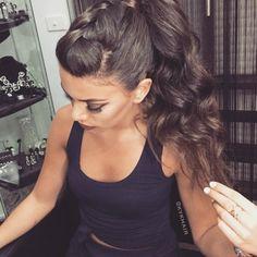Mohawk-inspired ponytail